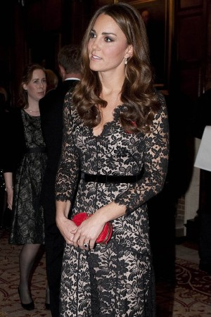 The Duchess of Cambridge in Temperley London at the University of St Andrews 600th Anniversary Appeal event.