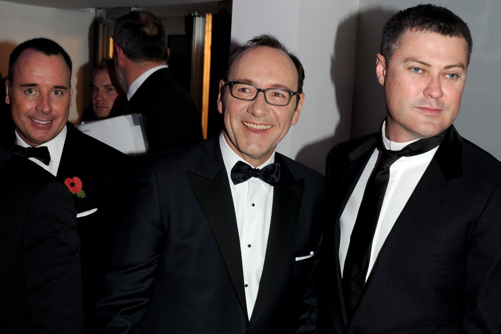 David Furnish and Kevin Spacey
