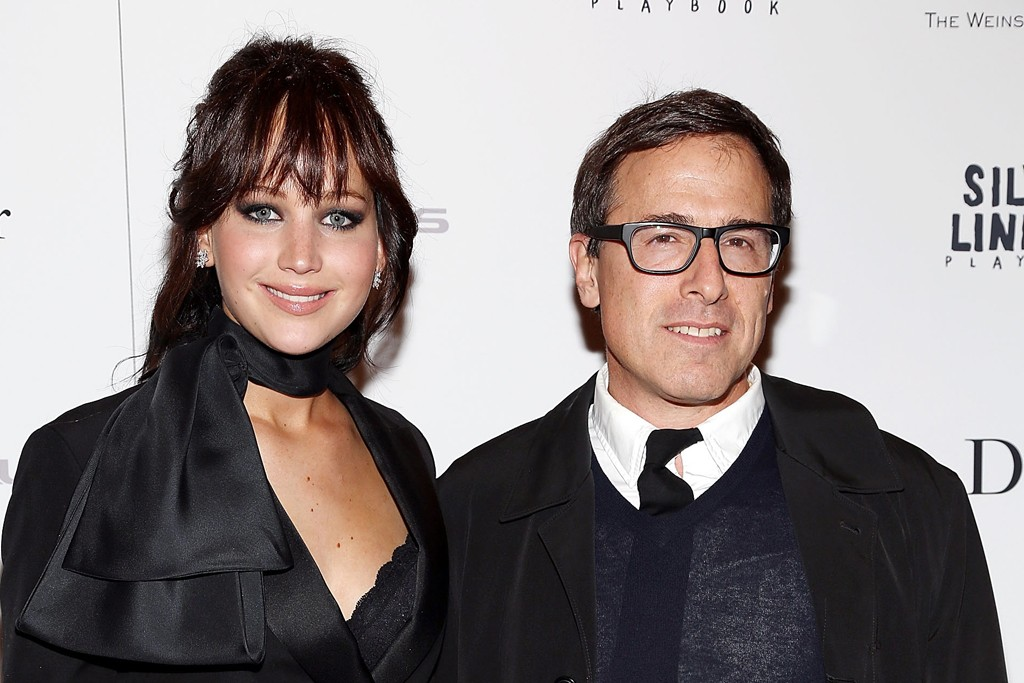 Jennifer Lawrence with David O. Russell.