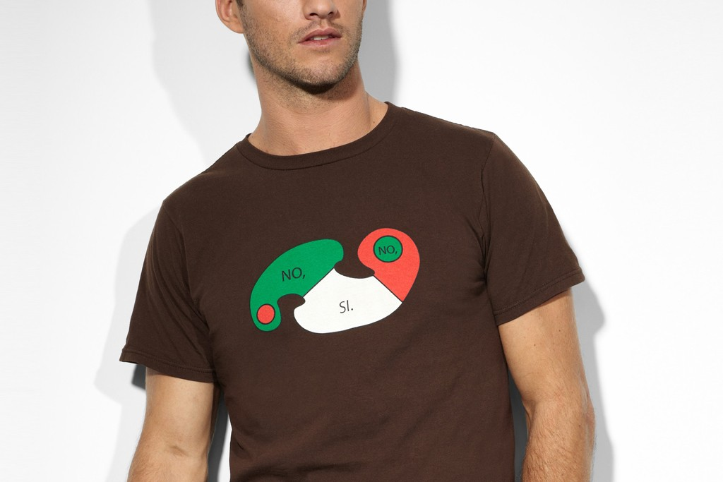 Gael Garcia Bernal designed a T-shirt as part of a Levi's and Intel collaboration to benefit Los Angeles' Museum of Contemporary Art.