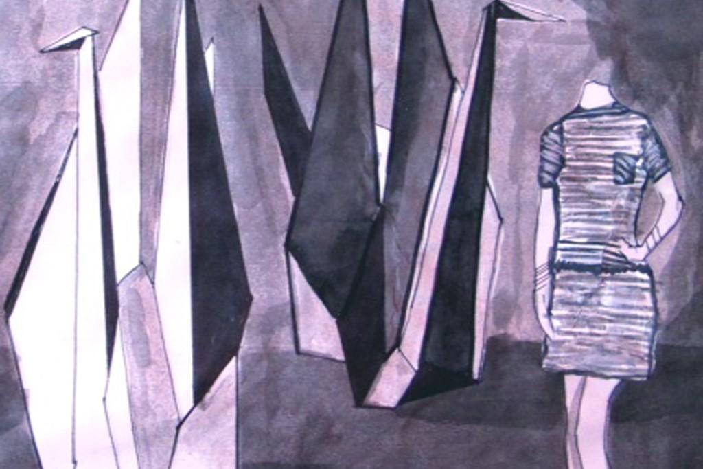 A sketch by Elle Muliarchyk.