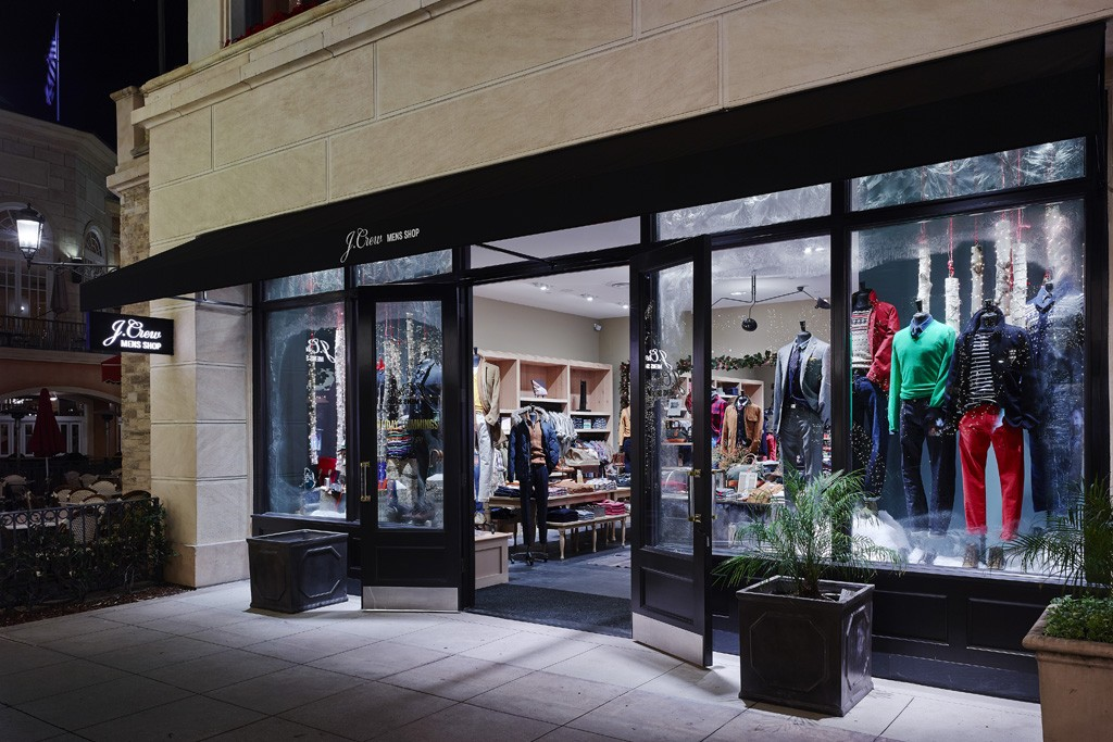 The J. Crew men's store at The Grove in Los Angeles.