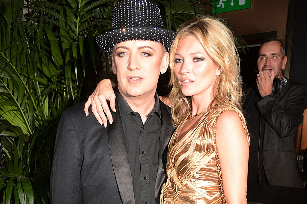 Boy George and Kate Moss