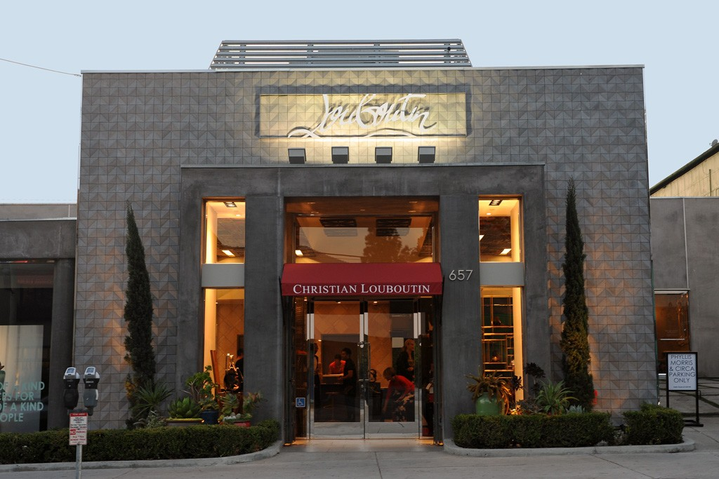 The Louboutin store in Los Angeles.