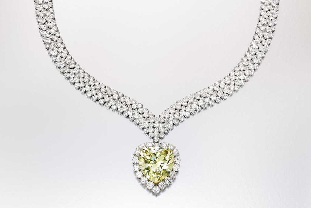 Estee Lauder's yellow diamond necklace that began on the finger of the Duchess of Windsor.