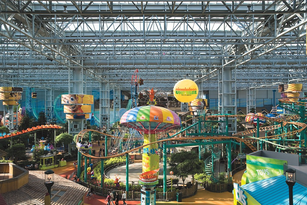 A view inside the Mall of America.