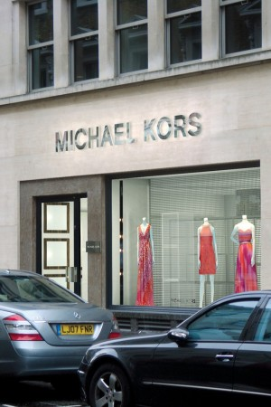 A Michael Kors store in London.