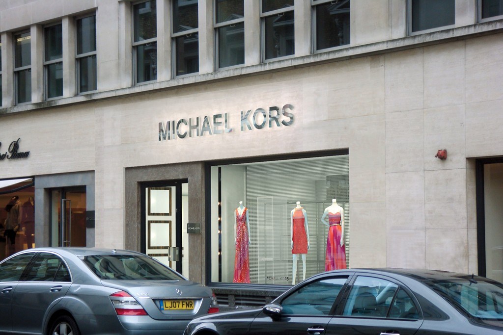 The exterior of a Michael Kors store in London.