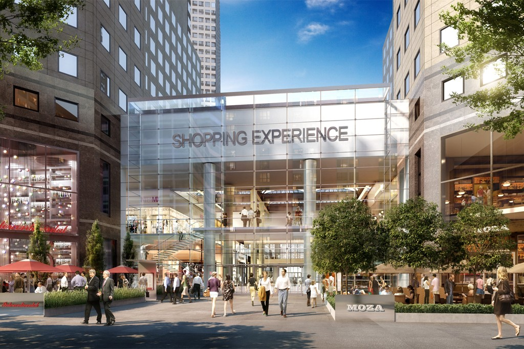 A rendering of Brookfield Place's new Vesey Street entrance.