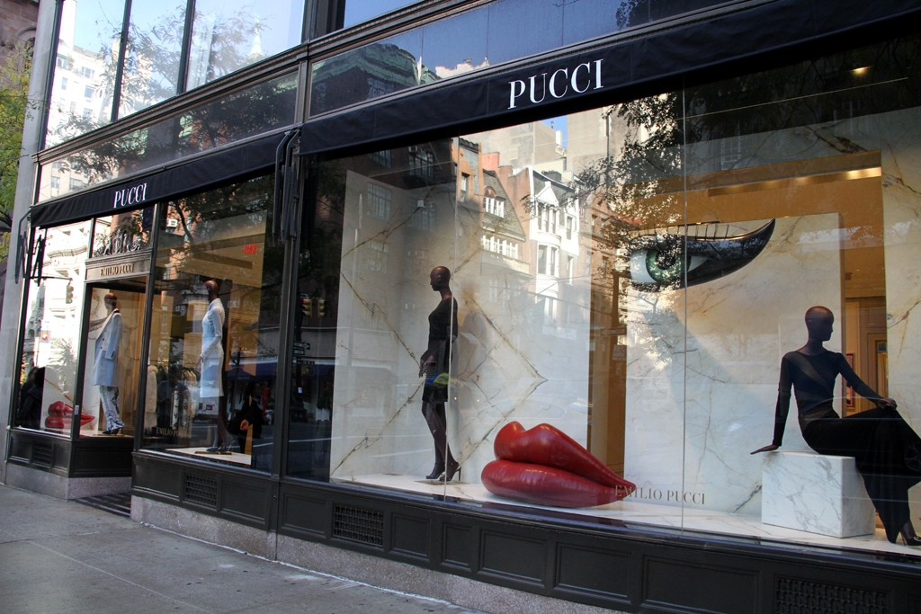 An exterior view of the Pucci flagship on Madison Avenue in New York.