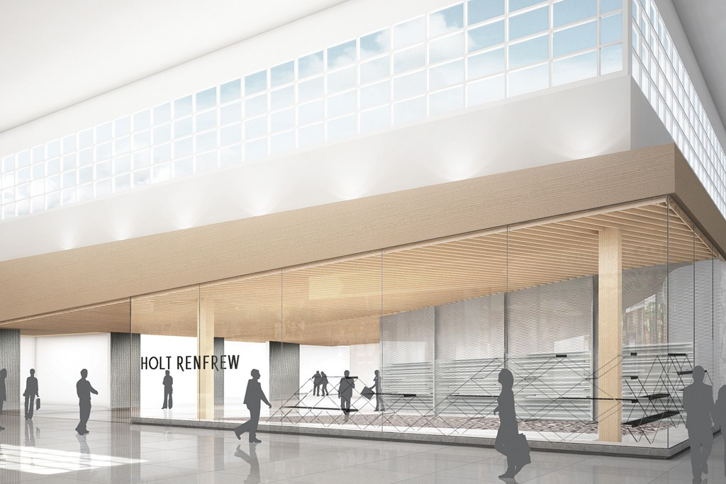 A rendering of the next generation store design.