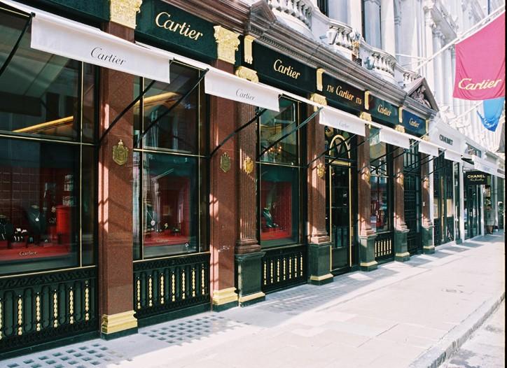 Facade of Cartier in London