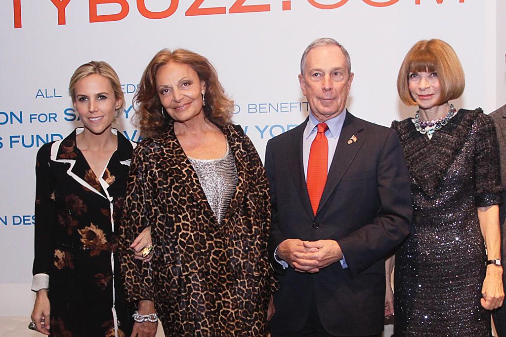 Tory Burch, Diane von Furstenberg, Mayor Michael Bloomberg and Anna Wintour.