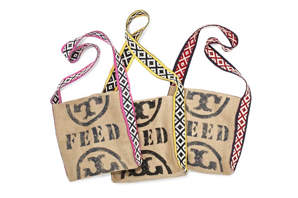Tory Burch feed bags.