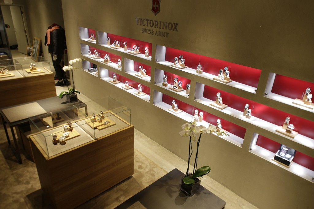 A view of the Victorinox store.