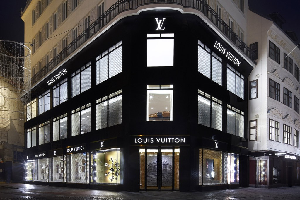 The new Louis Vuitton Global Store in Vienna.