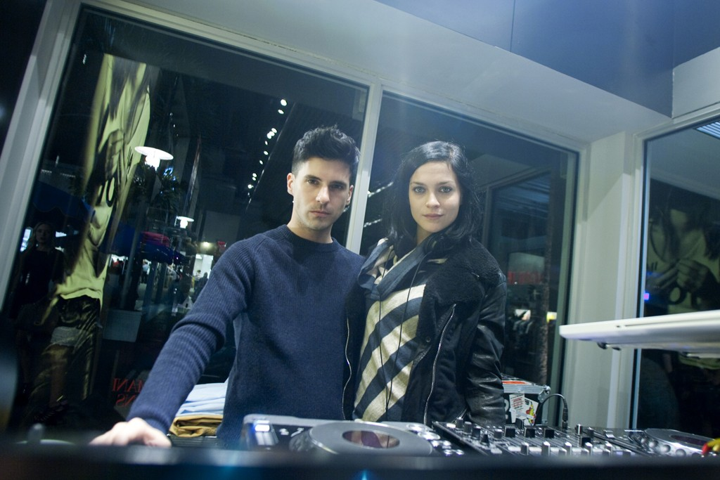 The Misshapes DJ at Armani Jeans store opening.