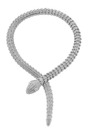 A one-of-a-kind Bulgari Serpenti necklace.