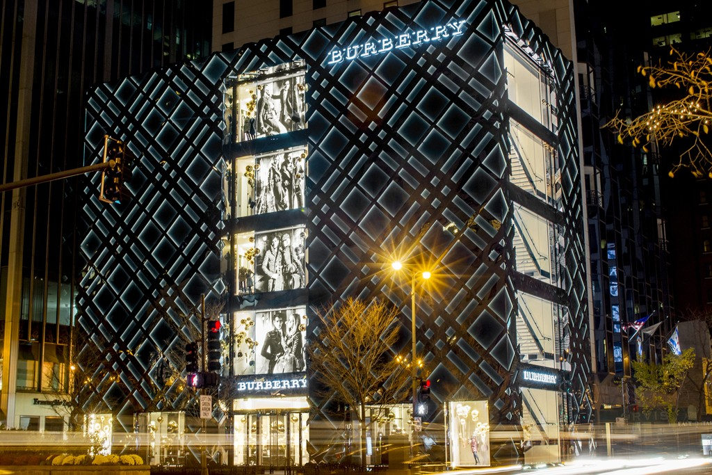 A view of Burberry's Chicago flagship.