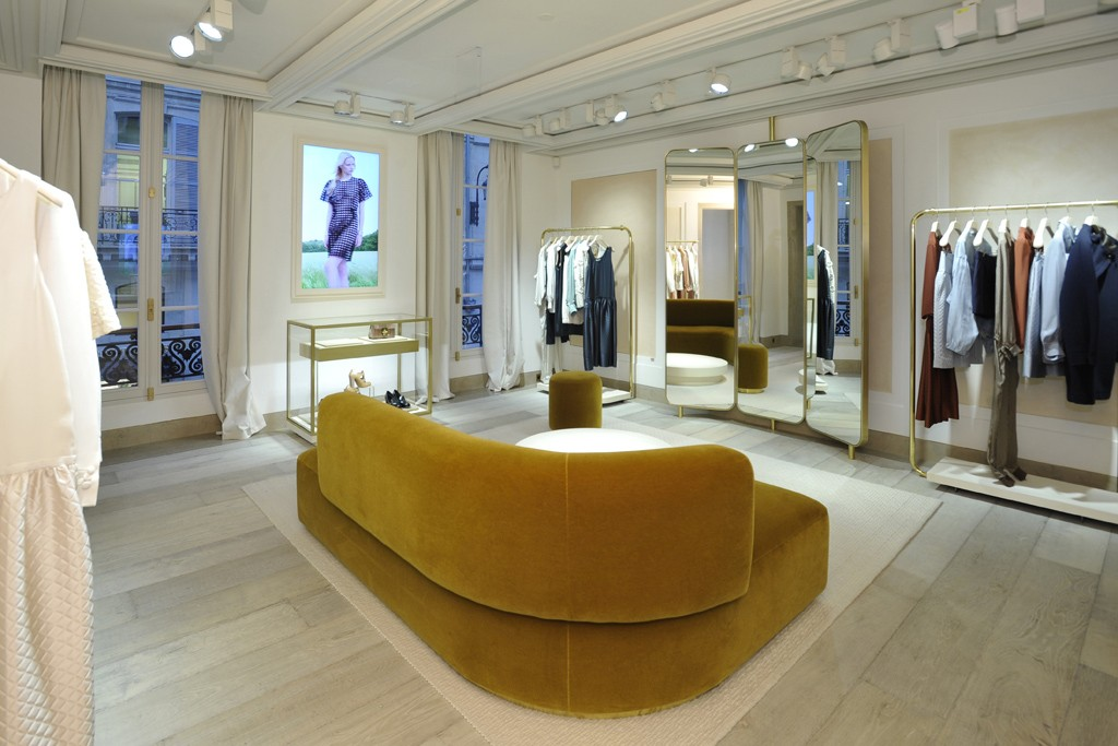 A view of the private salon in Chloé's Paris flagship.