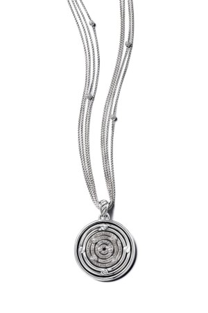 A necklace from the David Yurman Silver Ice Labyrinth collection.