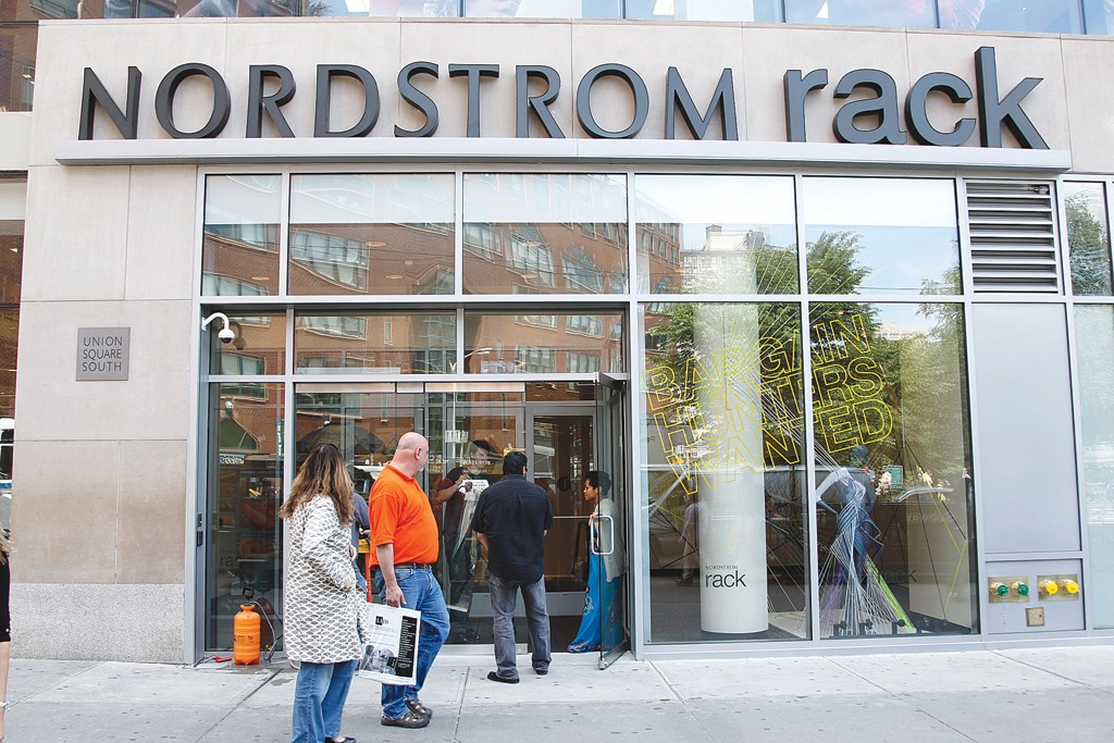 Exterior of Nordstrom Rack store in Union Square, New York.
