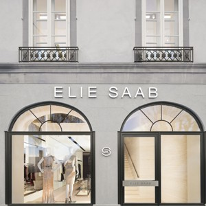 A view of the exterior of Elie Saab's Geneva store.