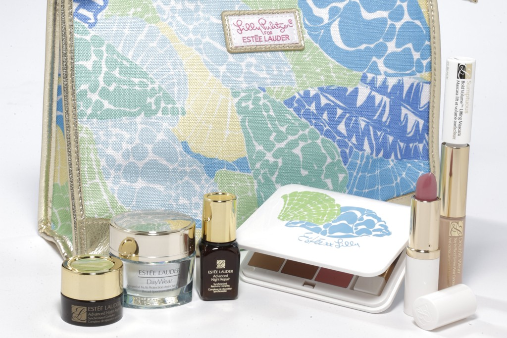 Estee Lauder's two-season, limited-edition assortment of makeup bags as a gift-with-purchase program with Lilly Pulitzer.