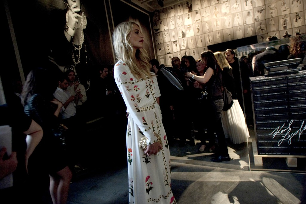 """Poppy Delevigne at Chanel's """"The Little Black Jacket"""" book party."""