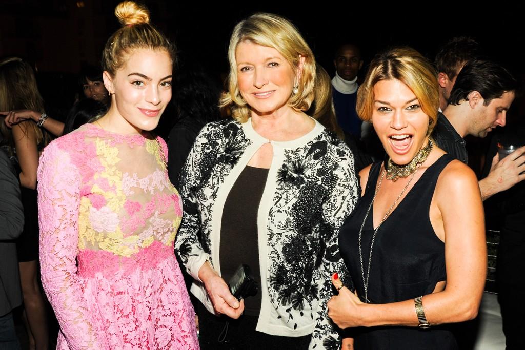 Chelsea Leyland, Martha Stewart and Jenne Lombardo.