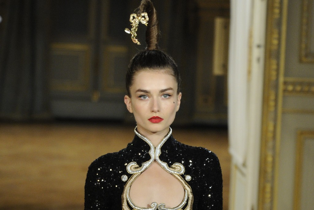 A fall haute couture look from Alexis Mabille.