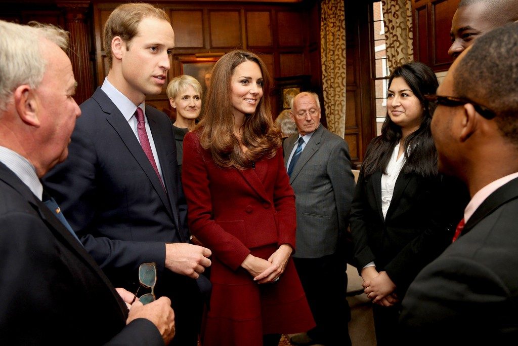 The Duke and Duchess of Cambridge visit Middle Temple.