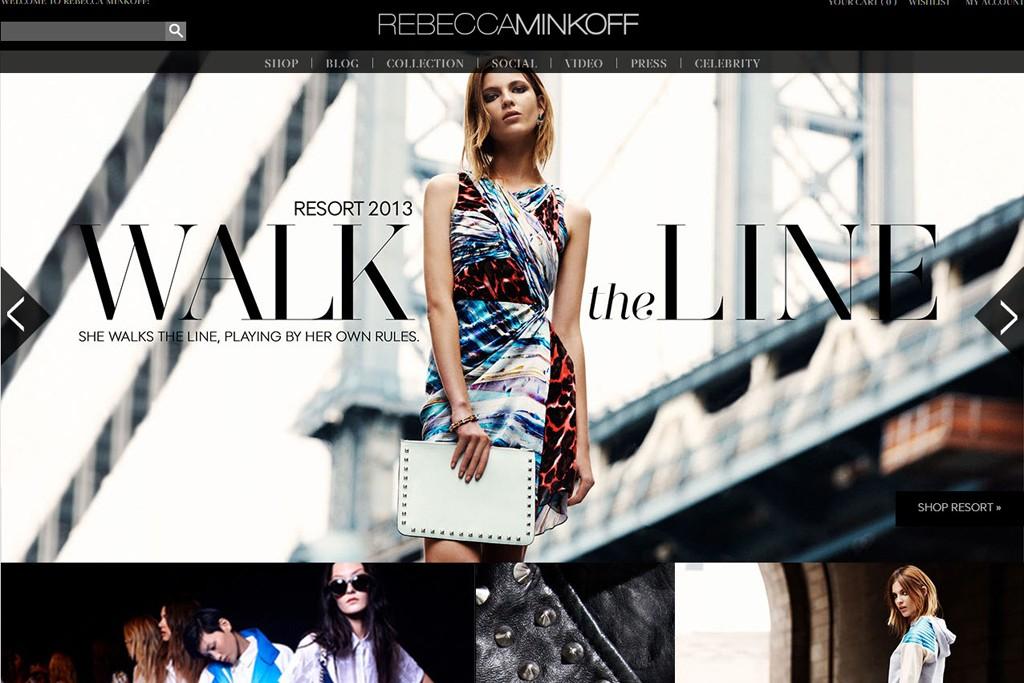 Rebecca Minkoff's new Web site.