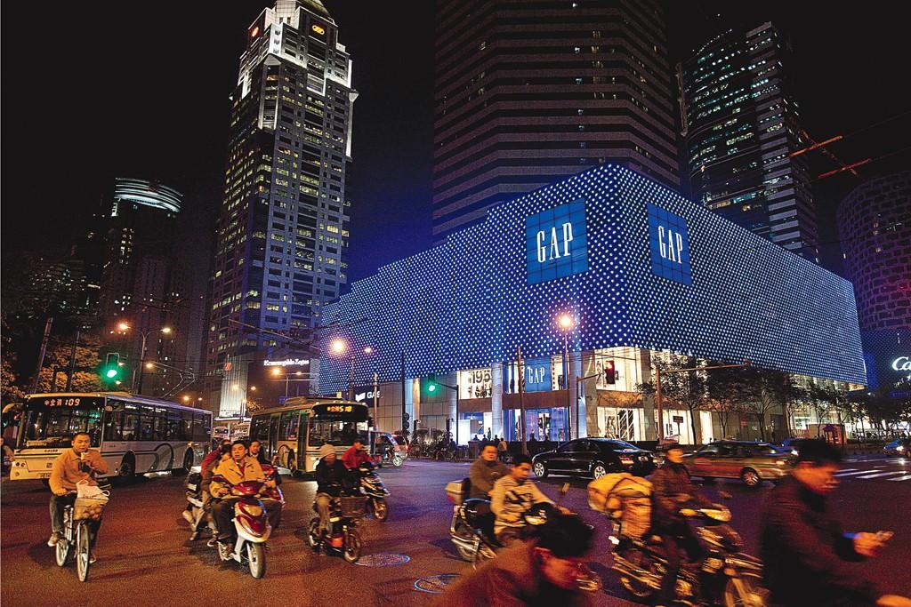 Gap flagship in Shanghai.