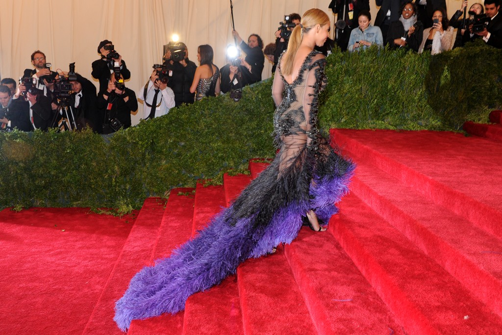 Beyoncé at the 2102 Metropolitan Museum of Art's 2012 Costume Institute Gala in Givenchy couture.