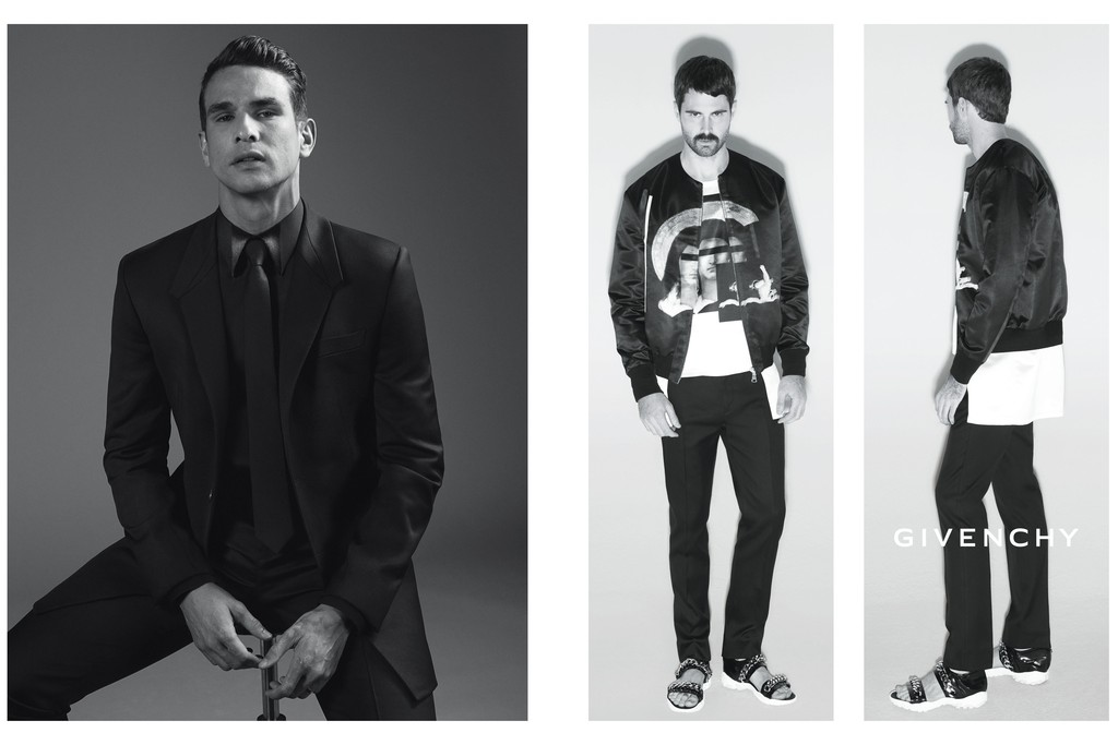 Jose Maria Manzanares and Jared Buckhiester are featured in Givenchy's spring-summer 2013 campaign for men.