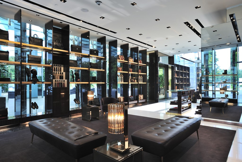 A view of the Gucci store at The Oberoi hotel in India.