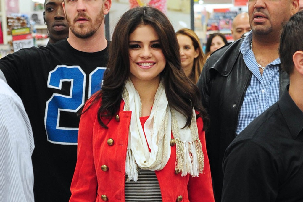 Selena Gomez checks out her latest Dream Out Loud line at Kmart last month in White Plains, N.Y.
