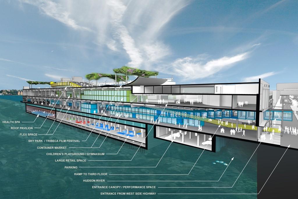 A rendering of Pier 57 near 15th Street.