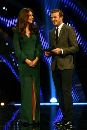 The Duchess of Cambridge and David Beckham