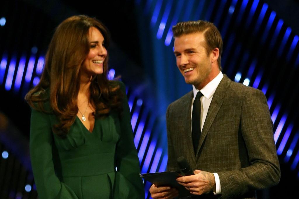 The Duchess of Cambridge and David Beckham