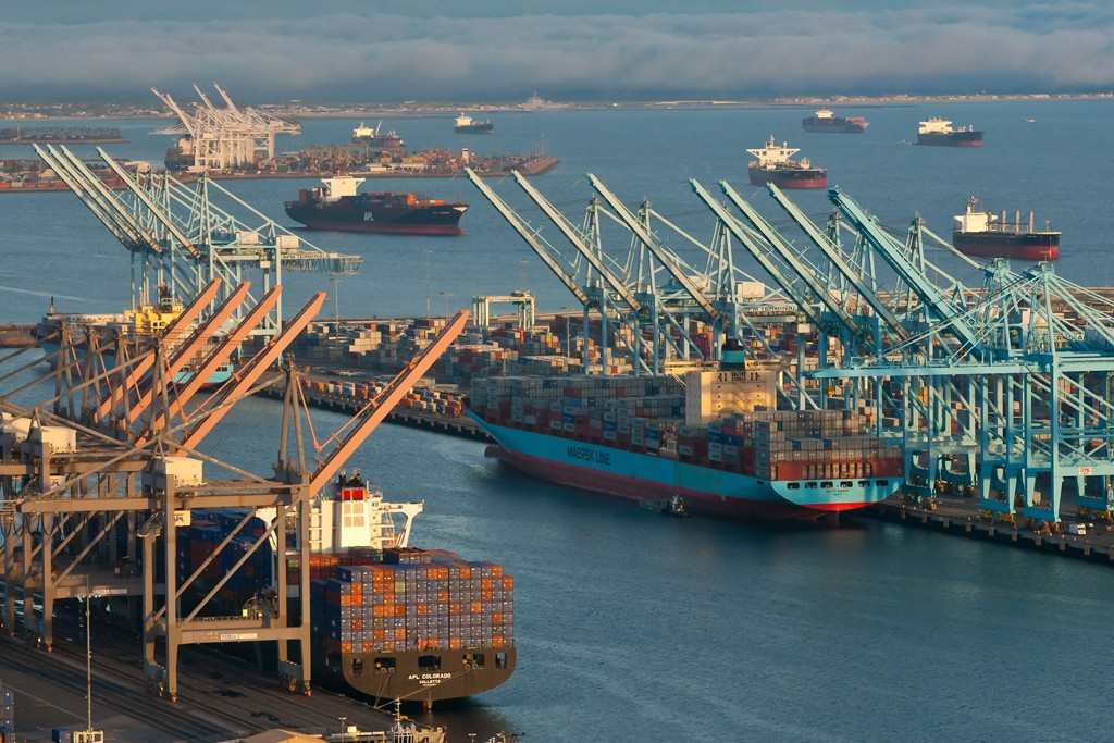 Ten of the 14 container terminals at the Ports of Los Angeles and Long Beach have been closed.