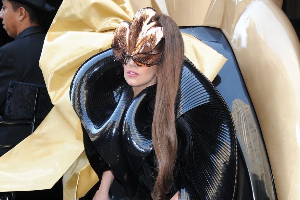 Lady Gaga at Macy's.