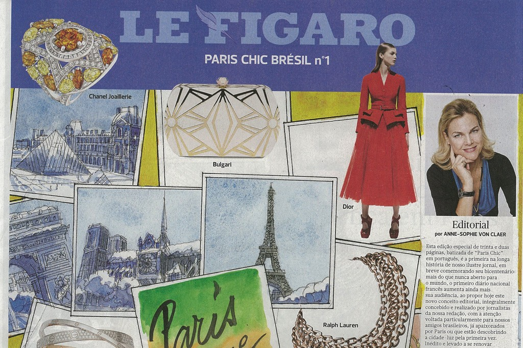 The cover of the first issue of Paris Chique.