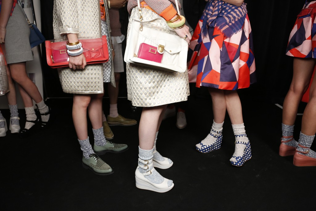Backstage at Marc by Marc Jacobs RTW Spring 2013