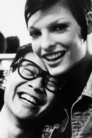 Clyde Brual with Linda Evangelista in the early Nineties.
