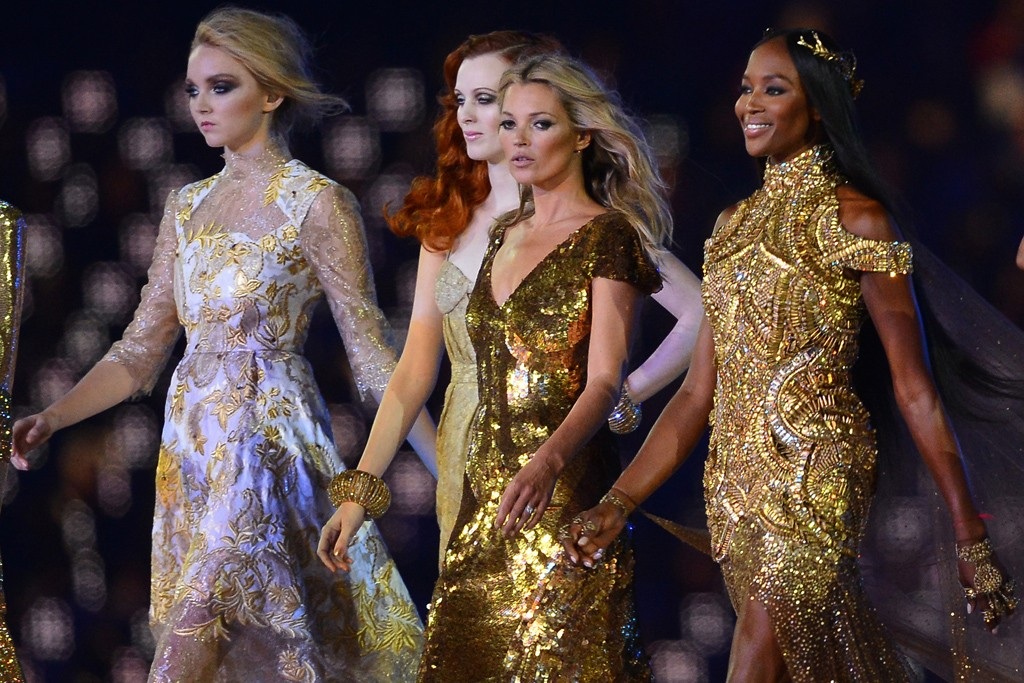 Lily Cole, Karen Elson, Kate Moss, Naomi Campbell