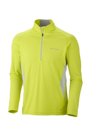 Columbia Sportswear's Freeze Degree Half Zip, which includes three technologies: Omni-Freeze Zero, Omni-Wick EVAP and Omni-Shade.