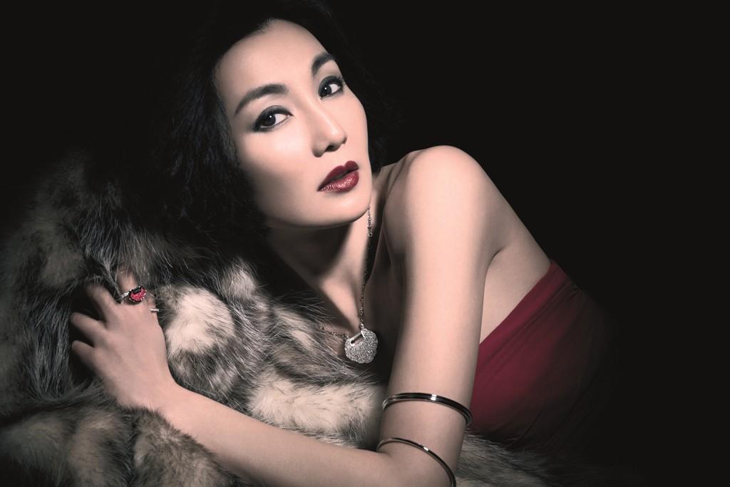 Maggie Cheung wearing Yi Yi collection by Qeelin.