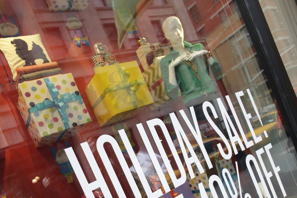 Holiday shopping in New York City.